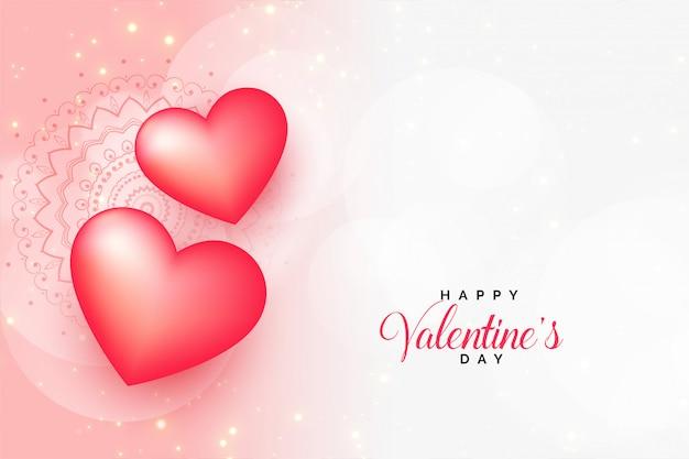 Красивое приветствие дня святого валентина с пространством для текста