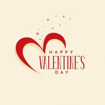 エレガントな幸せなバレンタインデーの心の背景