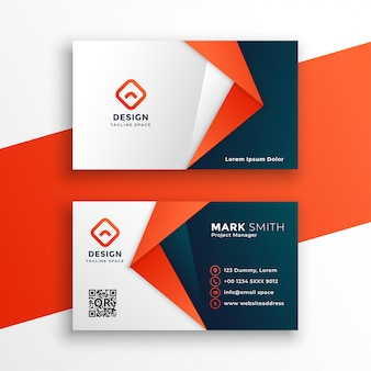 Профессиональный дизайн шаблона визитной карточки