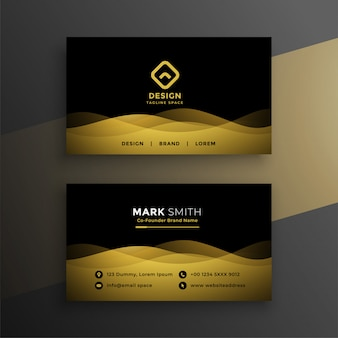Премиум темный дизайн визитной карточки
