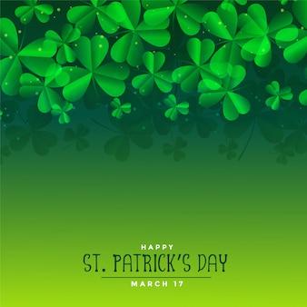 Зеленый день святого патрика листья фон