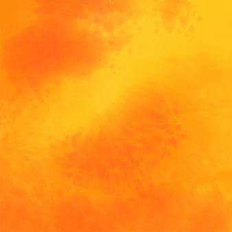 抽象的な黄色とオレンジ色の水彩テクスチャ背景