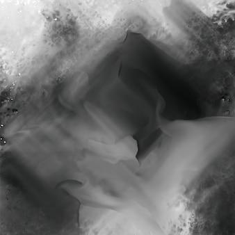 抽象的な黒水彩テクスチャ背景