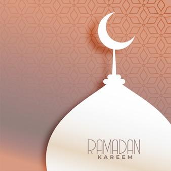 イスラムパターンの背景に美しいモスク