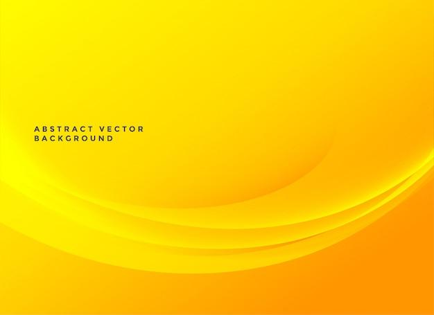 明るい黄色のエレガントな波状の背景