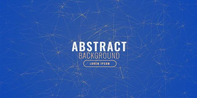 フラクタル線と抽象的な青い背景