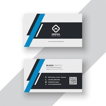 Современный профессиональный дизайн шаблона визитной карточки
