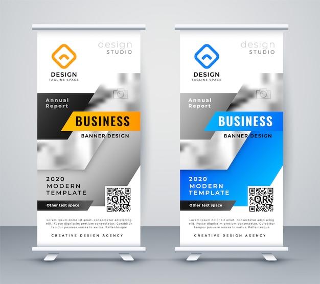 抽象的なビジネスロールアップバナーデザイン