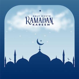 Рамадан карим сезон исламская мечеть фон