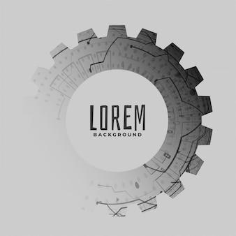 抽象的なテクノロジースタイルの歯車のシンボル