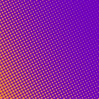 オレンジ色のハーフトーンパターンと紫色の背景