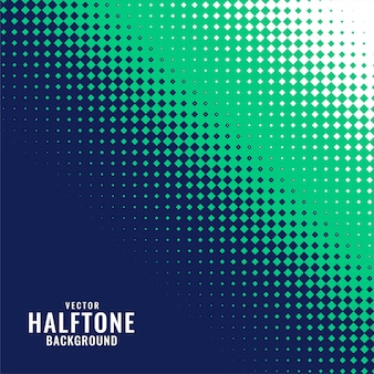 抽象的なブルーグリーンとホワイトのハーフトーンパターン
