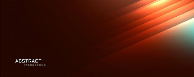 オレンジ色の輝く線の抽象的な背景