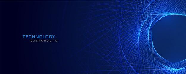 抽象的な青い線技術の背景