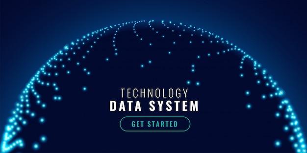 技術ネットワーク接続コンセプトバナー
