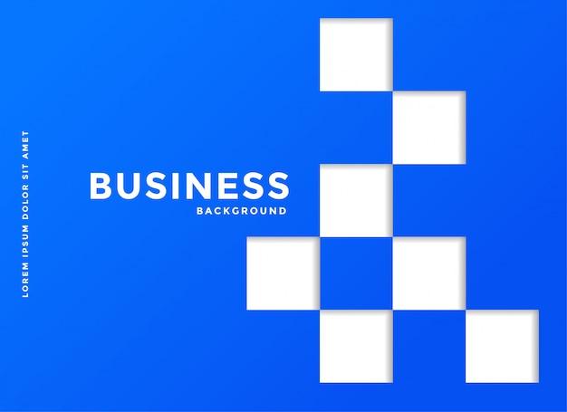 白い四角の青いビジネス背景