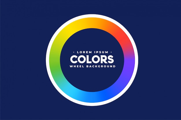 Радуга цветовой круг фон рамки