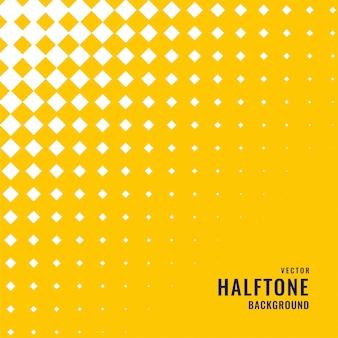 白いハーフトーンパターンと黄色の背景