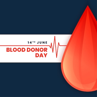 Всемирный день донора крови концепции плакат