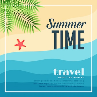 夏のビーチの楽園旅行バナー