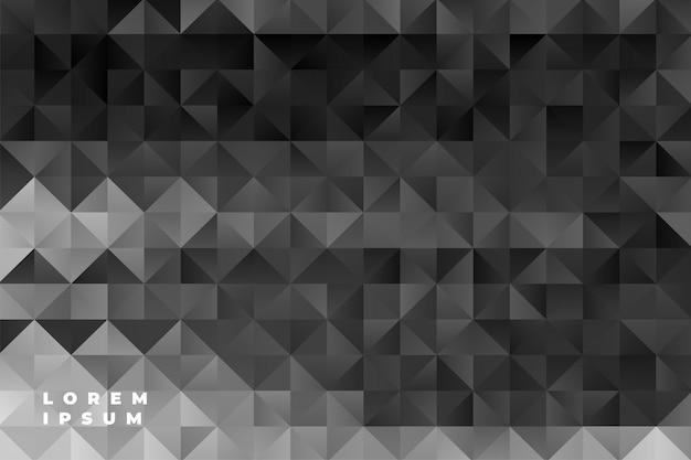 Абстрактный узор треугольников черный фон