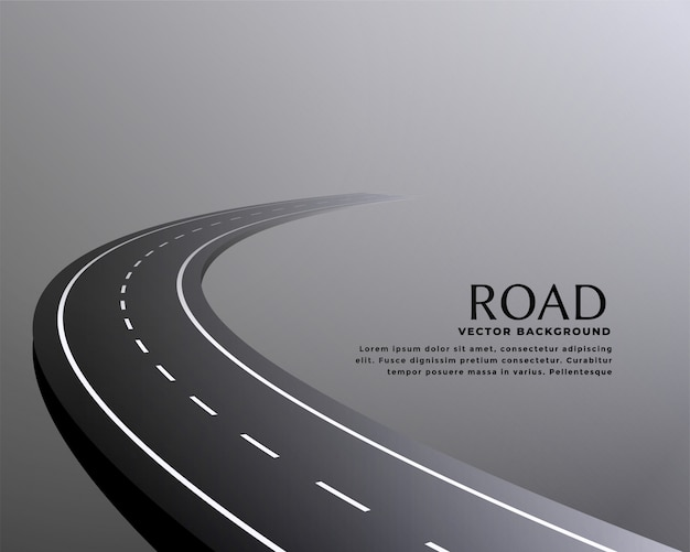Изогнутая перспектива дороги путь фон