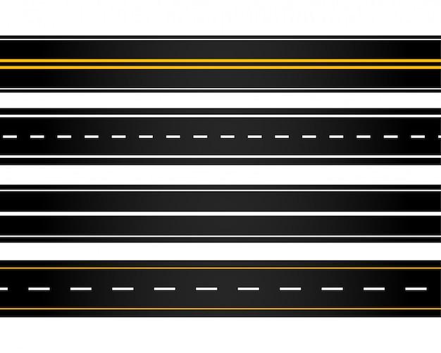 Набор разных стилей дорог