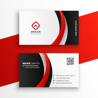 Удивительная красная визитная карточка