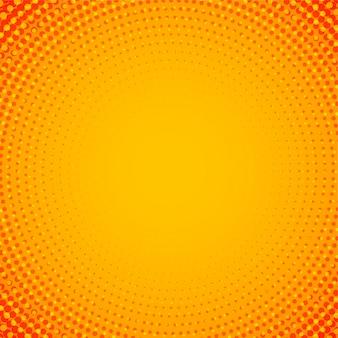 抽象的なオレンジ色の円形ハーフトーンの背景