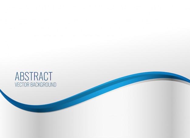 エレガントな青い波状スタイルの背景
