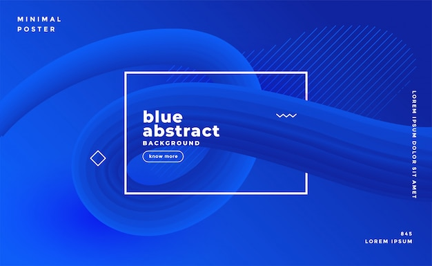 モダンなブルーの抽象的なプレゼンテーションテンプレート