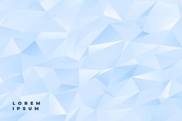 Абстрактный тонкий светло-голубой или белый низкий поли фон