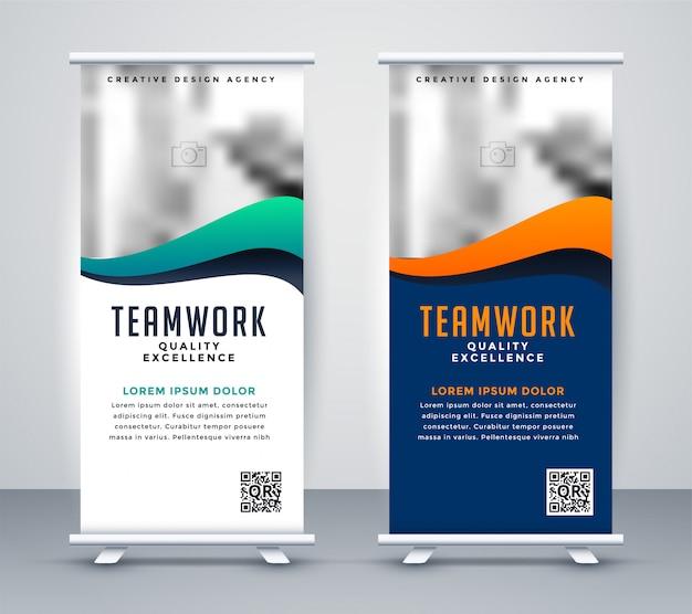 Современная баннерная раскладушка для маркетинга