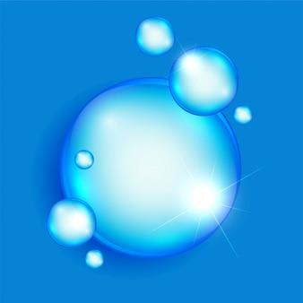 抽象的な石鹸や水の泡の背景