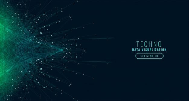 Наука цифровой большой технологии данных фон
