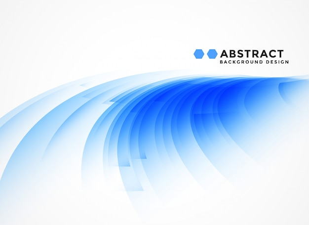 抽象的な曲線の青い形の背景
