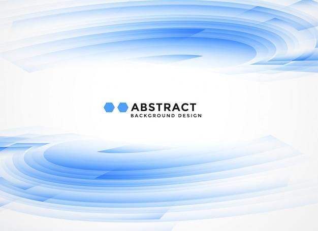 抽象的な青い波状図形の背景