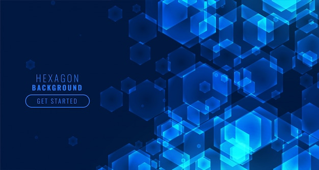 Футуристический цифровой фон технологии гексагональной формы