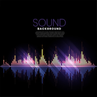 Музыкальный трек аудио звуковой баннер