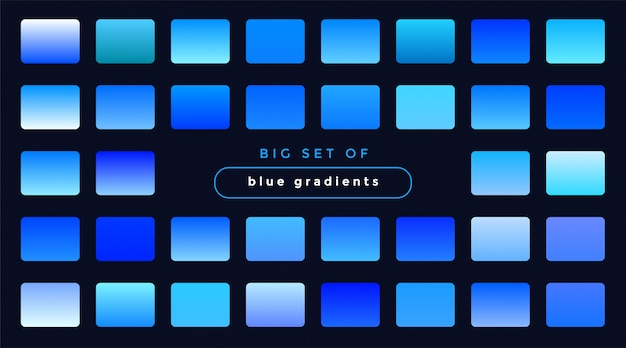 滑らかな青いグラデーションのセット