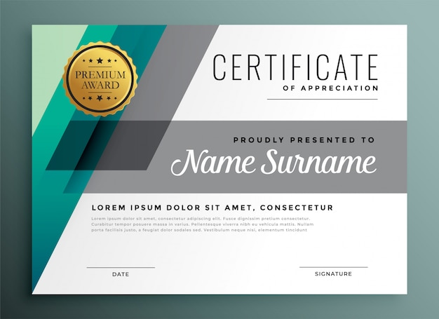 Элегантный геометрический шаблон сертификата