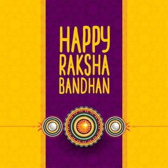 幸せラクシャバンダン挨拶のヒンズー教の祭り