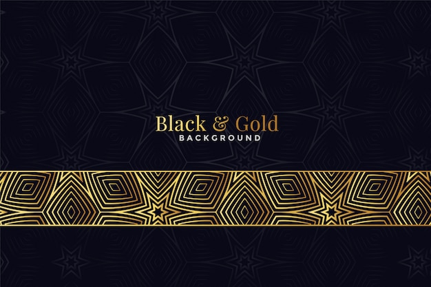 美しい黒と金色のパターン