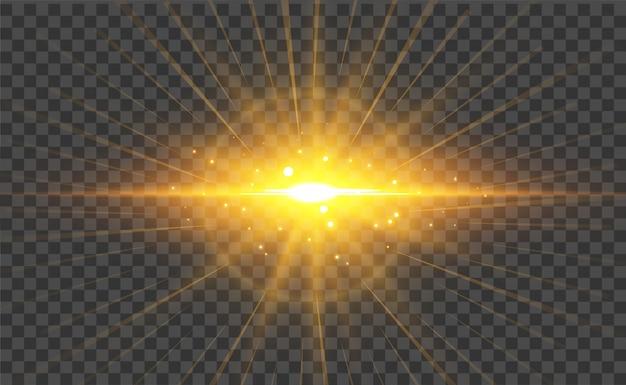 透明な光フレア効果の背景