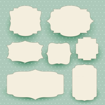 Старинные белые этикетки с пространством для текста