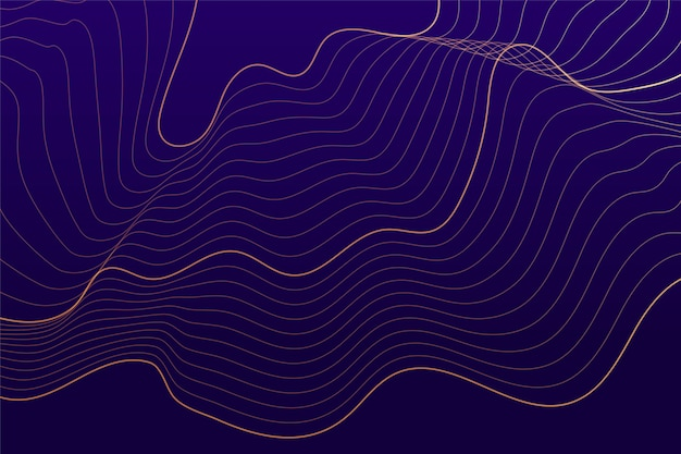 Фиолетовый фон с абстрактными плавными линиями