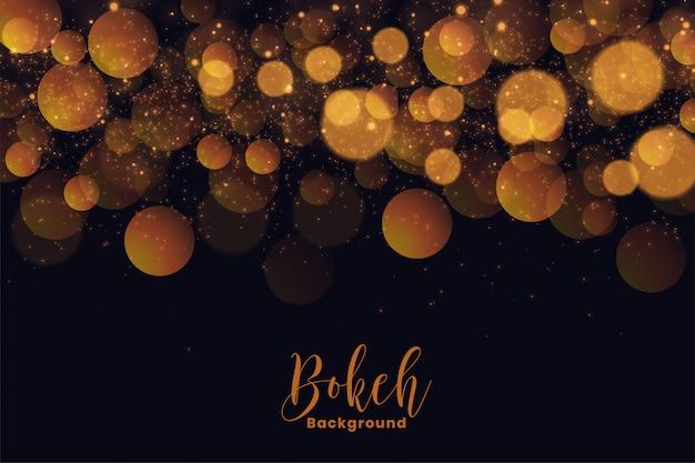 Привлекательный праздник боке фон в золотой световой эффект