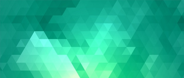 ターコイズ色の抽象的な三角形パターン図形