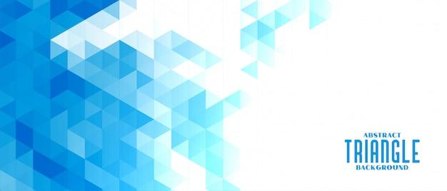 抽象的な青い三角形モザイクグリッド背景