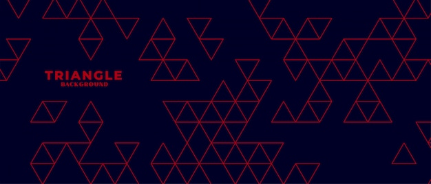 赤い三角形のパターンとモダンな暗い背景